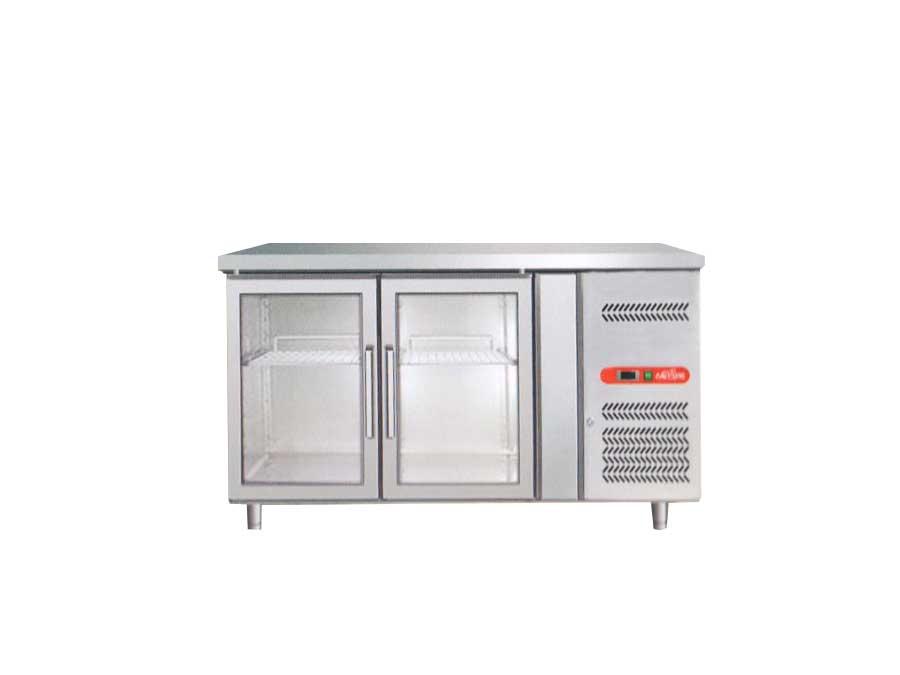 Tavolo refrigerato con porta a vetro GN2100TN G - Frigo Clima ...